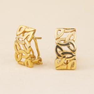 arracades plata daurada