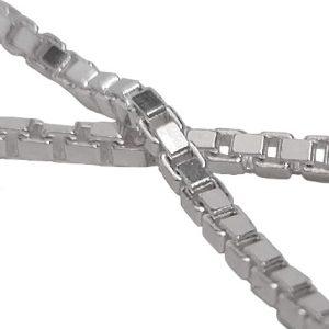 cadena veneciana plata rodiada