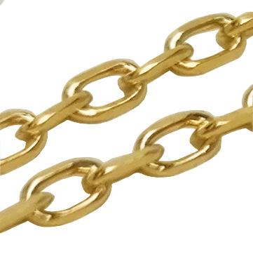 Cadena plata daurada