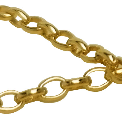 Roló oval daurada
