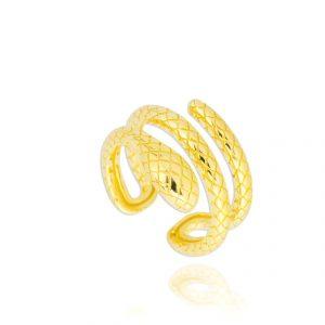 anell plata daurada obert