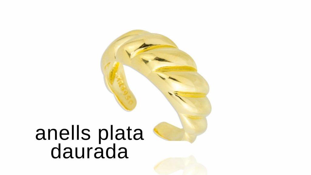anells plata daurada