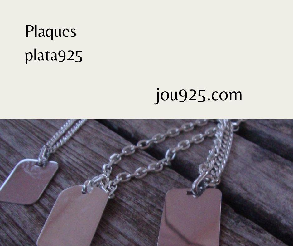 Plaques i cadenes plata 925